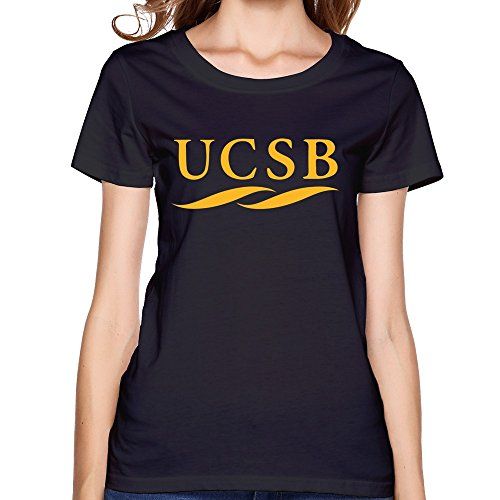 JIALE Women's University Of California Santa Barbara UCSB Logo T Shirt Small (Bob And Barbara's Halloween)