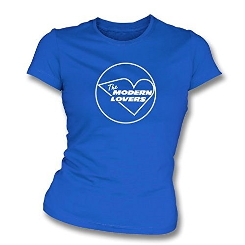 TshirtGrill Das moderne Liebhabermädchen slimfit T-Shirt, Farbe- Königsblau