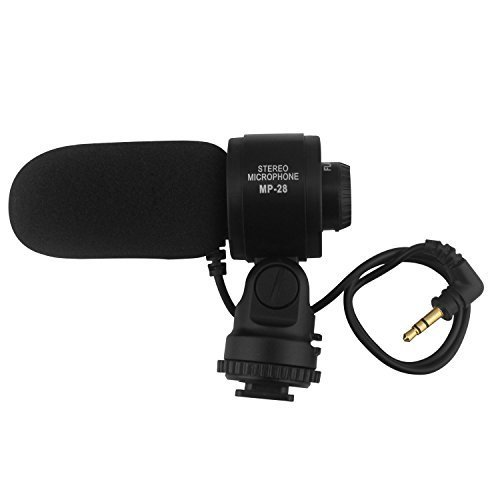 LP Shotgun Stereo Microphone,Photography Interview Videomic HD Professional Condenser,Stereo Video Microphone for DSLR Video (Videomic Shotgun Condenser Microphone)