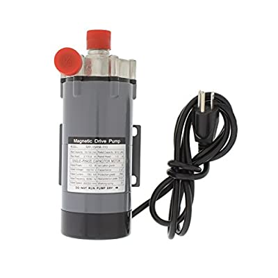 Magnetic Drive Home Brew Beer Siphon and Water Circulation Pump – Food Grade Stainless Steel Head with 1/2in Thread: Kitchen & Dining