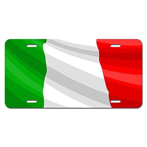 zaeshe3536658 Italy Flag Novelty Metal Vanity License Tag Plate Auto Tag 12 x 6 inch. by zaeshe3536658