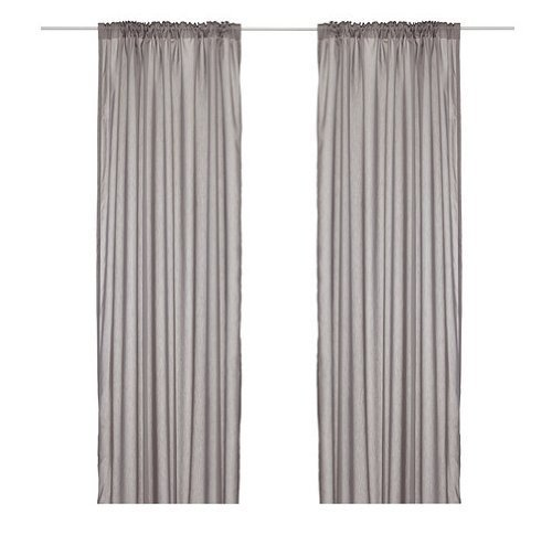Ikea Thin Curtains, 1 Pair, Gray