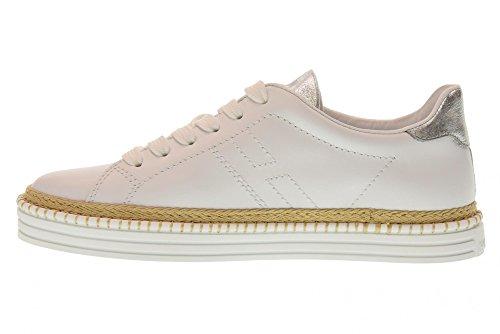 Donna Scarpe HXW2600AD70IQE0351 Argento Basse Sneakers Bianco R260 Hogan vaPqFnq