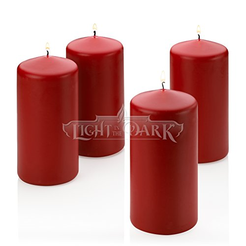 Red Apple Cinnamon Scented Pillar Candle 6 Inch Tall X 3 Inch Wide ()
