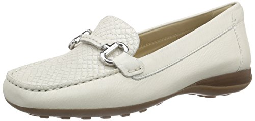 Geox Donna Euxo - Mocasines Mujer Blanco (Off White C1002)