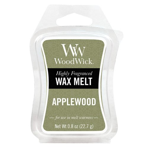 Woodwick Applewood Mini Cera, in plastica, Colore: Verde 57101