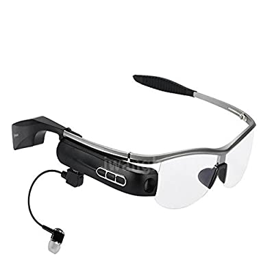 WEAR Smartglasses Wireless Bluetooth Earbuds Stereo Headset Smart Glasses Portable Camcorder(Sliver gray)