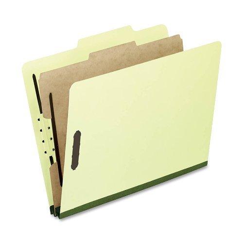(Pendaflex Pressboard Classification Folders, Letter Size, 4-Section, Lt Green, 10 per Box (1157G) by Pendaflex)
