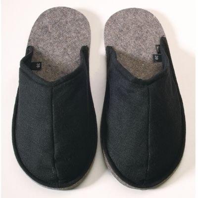 45 Puschis schwarz 44 Pantoffeln Gr qxCHCwga