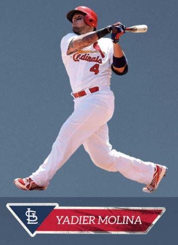 Yadier Molina FATHEAD Jr. St. Louis Cardinals Official MLB Vinyl Wall Graphic 27