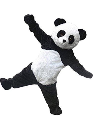 Super Cute Plush Panda Mascot Costume Adult Size Cartoon Halloween Fancy Dress Suit]()