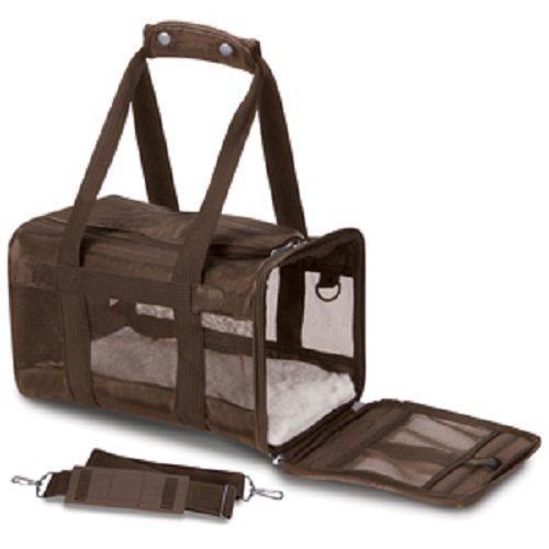 Sherpa Original Deluxe Pet Carriers With Bonus Go Dog Dragon Pet Toy (brown, large)