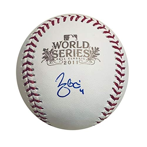 (Yadier Molina St Louis Cardinals Autographed 2011 World Series Signed Baseball JSA COA With UV Display Case)