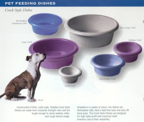 Dog Supplies Online (Dosckocil (Petmate) DDS23063 12-Cup Dog Crock Dish with Microban Antimicrobial Protection, Jumbo, Assorted Color)