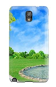 Rugged Skin Case Cover For Galaxy Note 3- Eco-friendly Packaging(house)