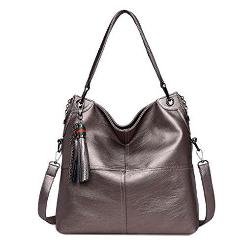Topker Genuine Leather Bags For Women Luxury Handbags Women Bags Designer Cowhide Shoulder Bag Ladies 2018 New