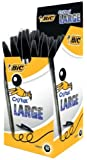BIC Lot de 3 Stylos à bille Cristal Large 1,6 mm Noir