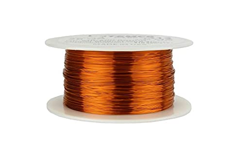 TEMCo 28 AWG Copper Magnet Wire - 8 oz 994 ft 200°C Magnetic Coil Winding