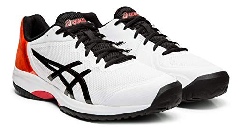 - ASICS Men's Gel-Court Speed Tennis Shoes, 8M, White/Black