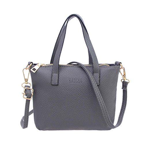 Handbag On Sale,Clearance!AgrinTol Women Fashion Handbag Shoulder Bag Tote Ladies Purse (Gray)