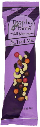 Trophy Farms Trail Mix, Nuts 'n' Chocolate, 2 Ounce (Pack of 12)