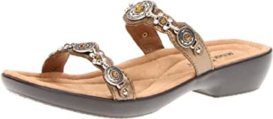 Minnetonka Women's Boca Slide Sandal,Bronze,11 M US