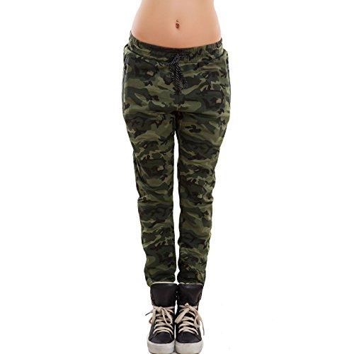 Elastico Militari Chiaro Tuta Camo Toocool Mimetici Donna Pantaloni Verde Camouflage Nuovi X1 98b qx4ngHA