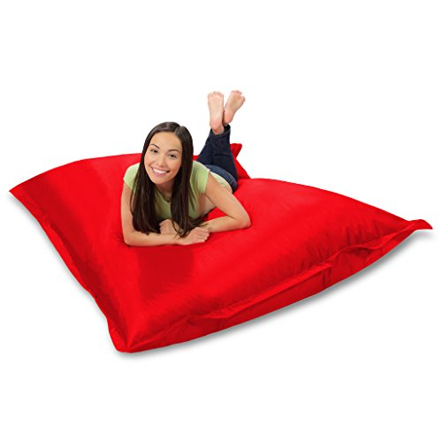 Huge Bean Bag Pillow for Playing Video Games & Watching TV, Red