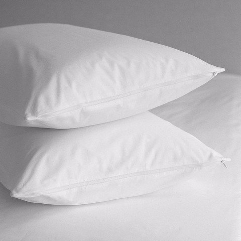 Best Seller in Bed Pillow Protectors Premium Allergy Pillow Protectors - Hypoallergenic Dust Mite & Bed Bug Free 400 Thread Count 100% Cotton Zippered