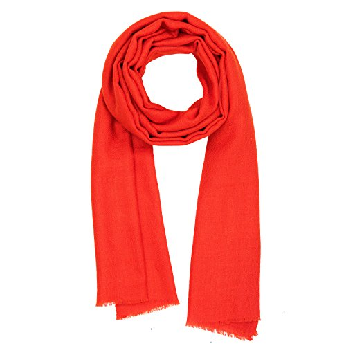 Made in Kashmir: Spring Summer 2018 Collection of Cashmere Feel Silk Scarf Unisex Pashmina Men's Women's Shawl by KASHFAB
