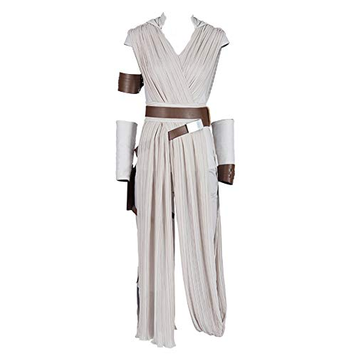 Handmade Star Wars Halloween Costumes (COMShow Star Wars 9 The Rise of Skywalker Rey Cosplay Costume Full Set Outfit Halloween Costume for Women)