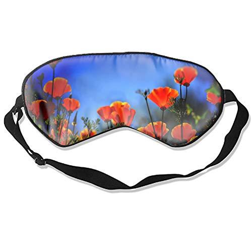 ld,Cute Sleep mask,Eye mask for Sleeping, Funny Sleep mask,Shut up mask, Silk Sleep Mask for A Full Night's Sleep,Sleep mask for Women (Poppy Flowers) ()