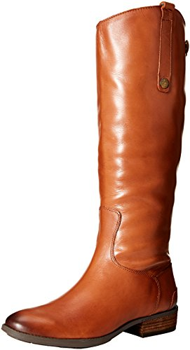 Sam Edelman Women's Penny Riding Boot, Whiskey Leather, 8.5 Wide US by Sam Edelman