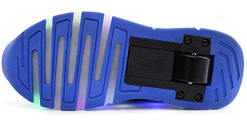 ECOTISH Jungen und Mädchen Turnschuhe Wanderschuhe Rollschuh Schuhe Skateboard Lichter Blinken Schuhe Räder Schuhe