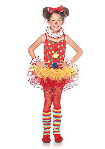 [Leg Avenue Children's Circus Clown Costume, Multicolor, Medium] (Childs Clown Costumes)