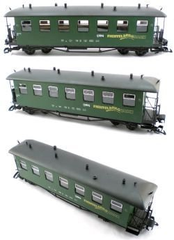 Fichtelbergbahn Saxon Style Passenger Train Car Solid Green G Scale best to buy