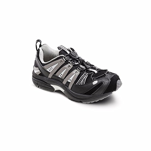 Dr. Comfort Performance-X Men's Therapeutic Diabetic Double Depth Shoe: Black 10.0 Wide (W/4E) Elastic & Standard Laces