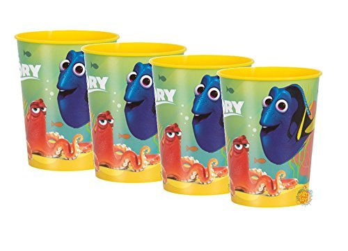 Disney Finding Dory Reusable Favor Plastic Party Cups - 16oz - Pack of 4