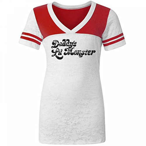 [Harley Quinn Costume Tee: Junior Fit Burnout T-Shirt] (Fandom Halloween Costumes)