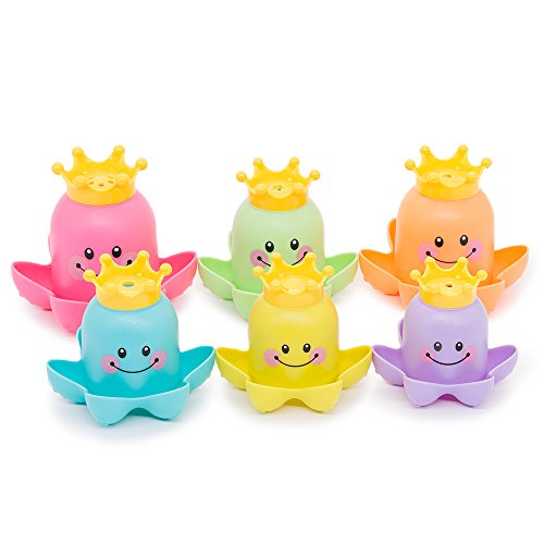 Baby Stacking Cups Bath Toys Nesting Cups Playing Octopus Educational Toys
