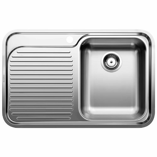 Blanco Classic 4S-IF Sink stainless steel satin flat edge for 45cm cabinets, basin left, silver by Blanco by Blanco