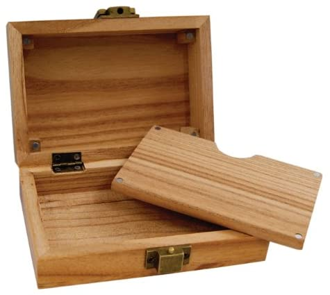 Wooden Box RAW Joint Box 129/x 50/x 86/mm Secret Compartment with magnetic closure for papers
