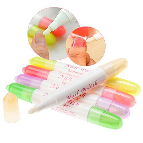 5 Nail Art Refillable Polish Varnish Removers Corrector Correction Pens By VAGA®