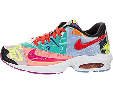 best service f340e 6fe80 Amazon.com   Nike Air Max2 Light QS (Atmos) Black Bright Crimson   Shoes