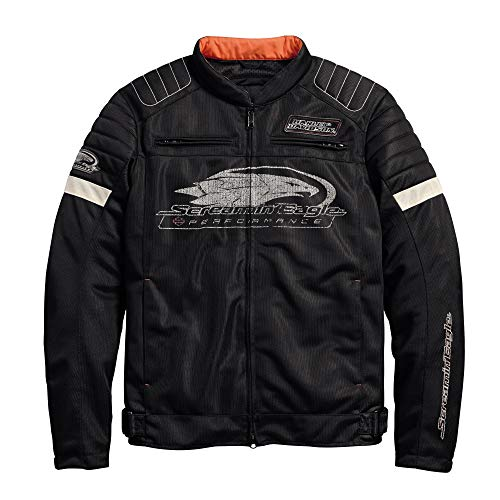 Official Harley-Davidson Men's Screamin' Eagle Mesh Riding Jacket, Black (X-Large) ()