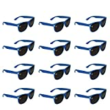 12 Pack Blue Sunglasses Bulk for Kids Adults Party Favors