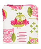 Caught Ya Lookin' Reusable Snack Bag, Pink and Green Owls