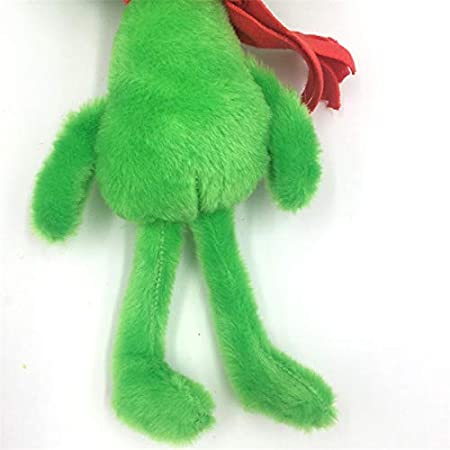 288c2c2b351 Amazon.com  PAPWELL Grinch Plush 10.8 inch Green Santa Christmas  Illumination Big Toy Large Toys Stuffed Gift Collectable Halloween Birthday  Gifts Cute Doll ...