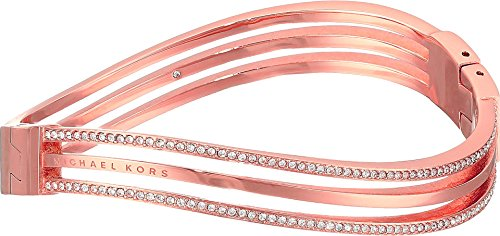 Michael Kors Wonder Lust Rose Gold-Tone Hinge Bangle Bracelet