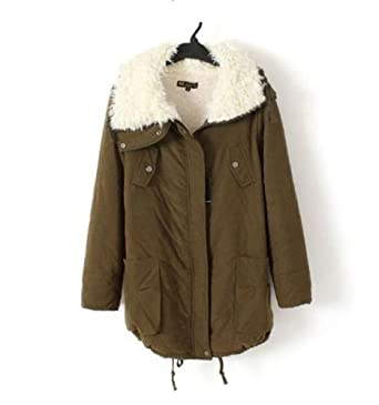 Amazon.com: Promithi Womens Winter Cotton Parka Down Quilted Jacket: Clothing